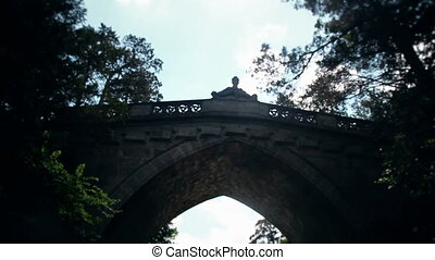 Old Stone Bridge At Laxenburg Castle In Austria Shot From...
