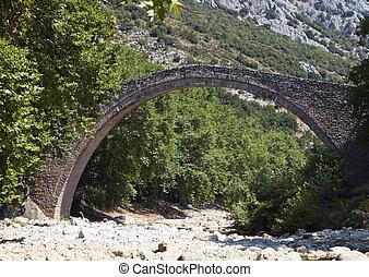 Old stone bridge in Greece