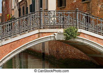 Old stone bridge in Venice.