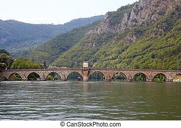 old stone bridge Visegrad Bosnia