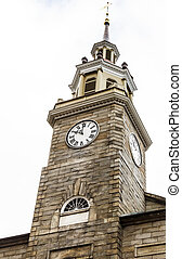 Old Stone Clock Tower in Portland