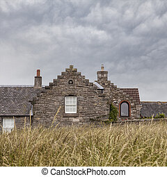 Old stone cottage - Image of a traditional stone cottage,...