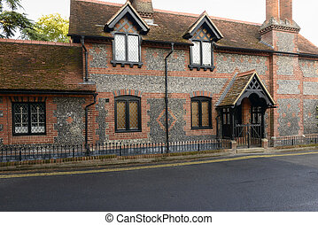 old stone cottage, Marlow - view of old stone cottage with...