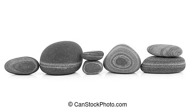 Old Stone Creatures - Stone selection in zen abstract design...