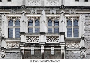 Old stone facade