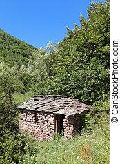 Old stone house at Balkan Mountain (Stara Planina) National Park in Serbia Europe