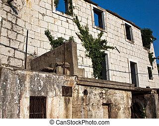 Old stone house in Croatia
