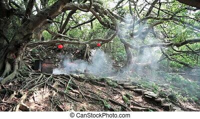 Old stone made temple at Miaoli, Ta - Miaoli, Taiwan -...