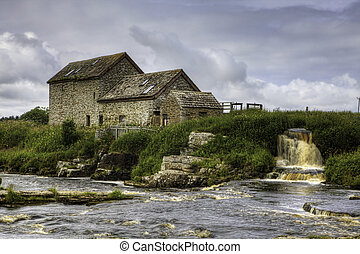 An old stone mill in Thurso, Scotland