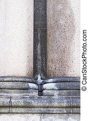 old stone pillars
