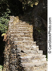 Old stone stairs in Bhutan