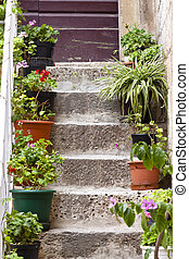 Old stone stairs - Trogir