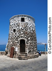 Old stone tower, Nisyros island