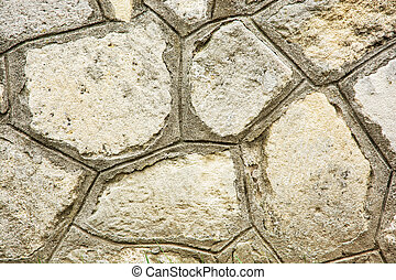 Old stone wall, architectural element