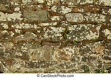 Old stone wall, background