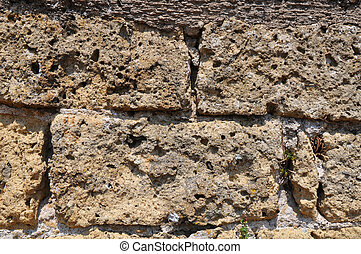 Old stone wall.