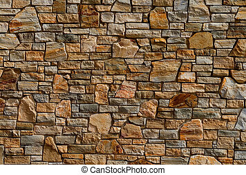 Old stone wall - Colorful old stone wall texture, background...