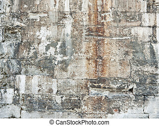 Old Stone Wall texture - Texture of aged rusty stone wall ...
