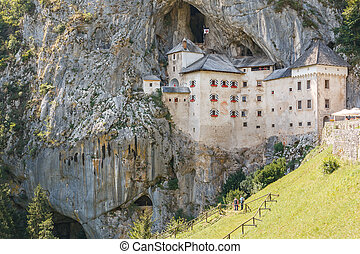 Old stony castle in the mountains