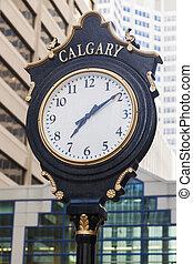 Old street clock in Calgary