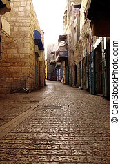 Old street in Bethlehem - is the capital of the Bethlehem Governorate of the Palestinian National Authority