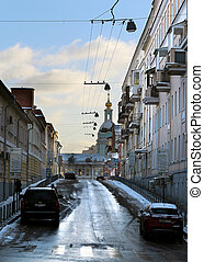 Old street in Moscow