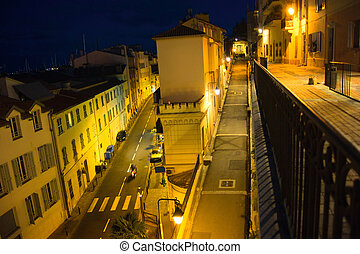 Old street in night