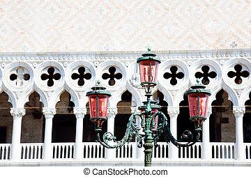old street-lamp in Venice