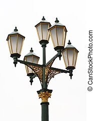 old street lamp - old electric street lamp in retro style