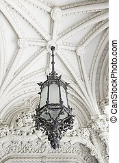 Old street lamp on the ceiling
