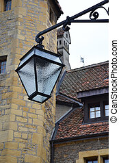 Old street lamp the Neuchatel Castle, Switzerland