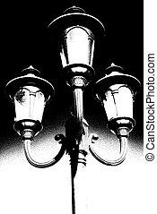 Old Street Lantern Duotone - Old Kerosene lantern hanging ...
