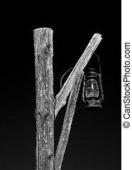 Old Street Lantern - Old Kerosene lantern hanging from a ...
