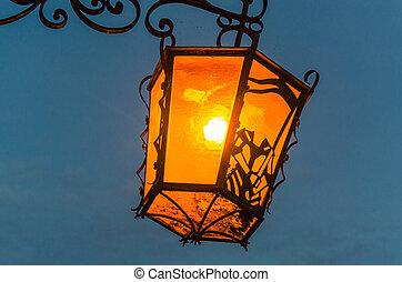Old Street Light Illustrations And Clip Art 3016