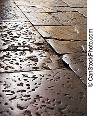 Old street tiles