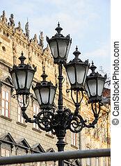 Old streetlight in Lviv, Ukraine