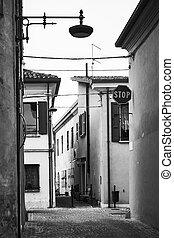 Old streets in San Giovanni in Marignano, Emilia-Romagna, ...