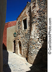 Old streets of Monemvasia, Greece