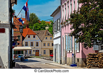 Old streets of town Karlovac