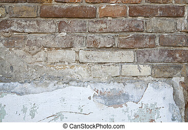 old structure of brick wall