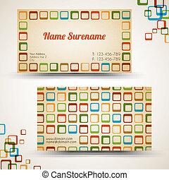 old-style, ビジネス, 型, ベクトル, レトロ, カード
