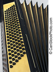 Old style accordion - Close up of old style accordion