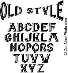 old style alphabet for labels