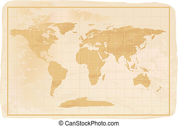 old style anitioque world map