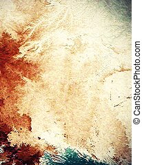 Old-style background, aging texture. With different color ...