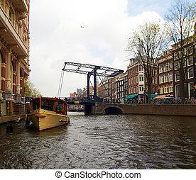 Bridge over canal in Amsterdam