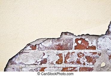 Brocken Brick Wall - Old Style Brocken Brick Wall