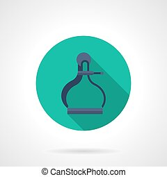 Old style caliper flat round vector icon - Blue old style...