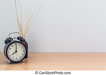 old style clock and Reed Diffuser room aroma with space for text