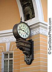 Old style clock in Saint Petersburg